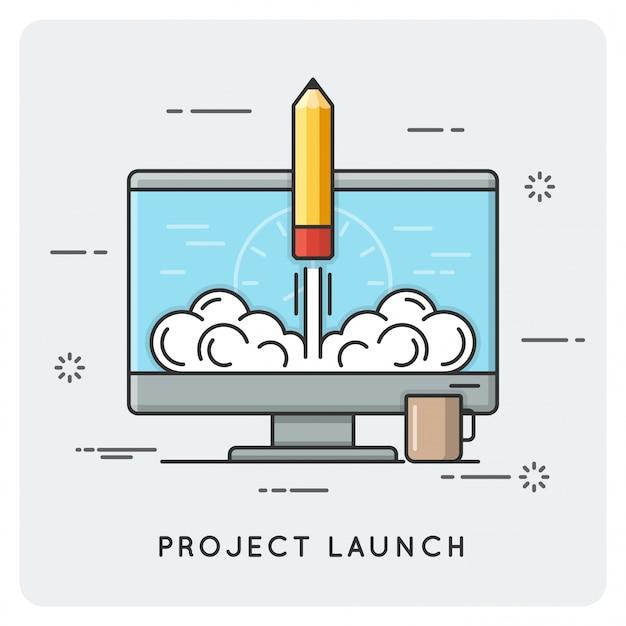 Lancement et démarrage du projet. ligne fine .