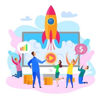 Lancement de fusée d'affaires