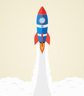 Lancement de fusée dans l'espace
