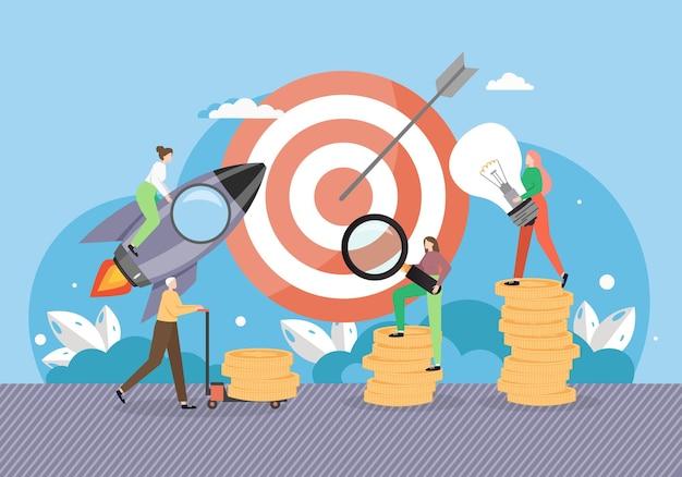 Lancement de fusée de démarrage de projet d'entreprise