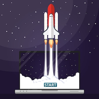 Lancement de fusée illustration vectorielle concept