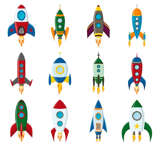 Lancement de fusée spatiale rétro