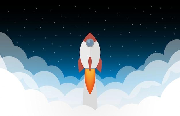 Lancement d'une fusée spatiale