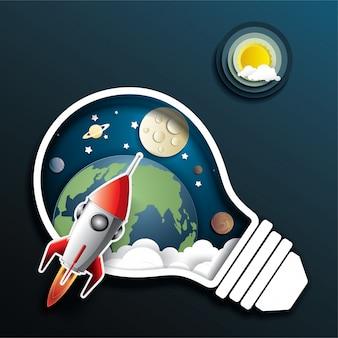 Lancement de fusée spatiale