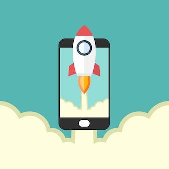 Lancement de fusées et lancement de nouveaux smartphones