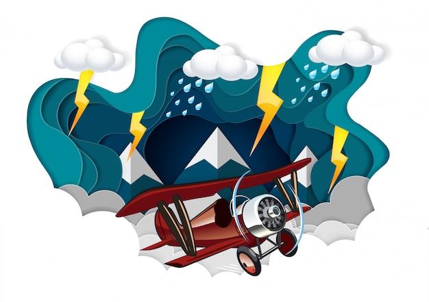 Lancement de la navette spatiale vers le ciel, concept de démarrage d'entreprise finance, art vectoriel et papier d'illustration