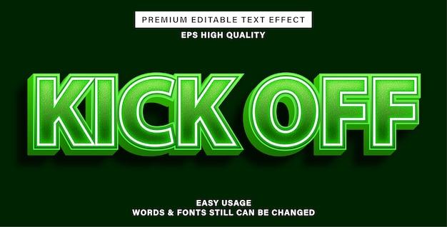 Lancer le style d'effet de texte