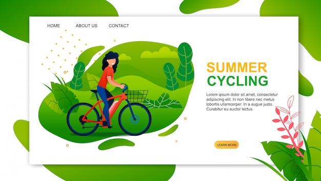 Landing page advertising meilleure offre estivale de cyclisme