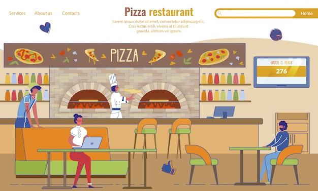 Landing page advertising pizza restaurant