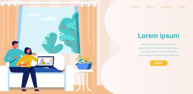 Landing page annonce une application pour un appel vidéo