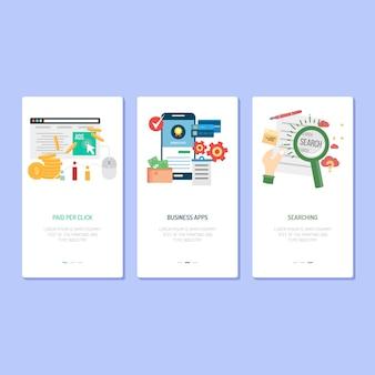Landing page design - clic payant, application et recherche