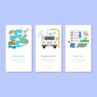 Landing page design - liste des produits et des entreprises de voyage