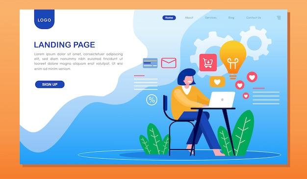 Landing page de développement du site web