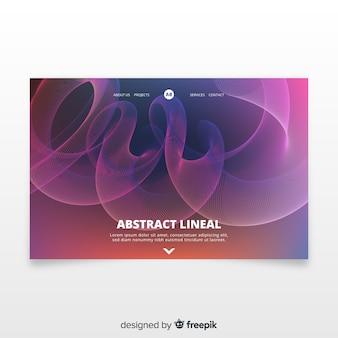 Landing page avec des formes linéaires abstraites