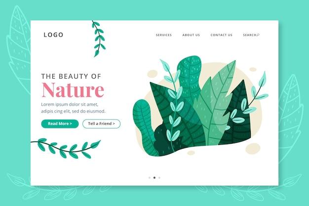 Landing page nature dessinée à la main
