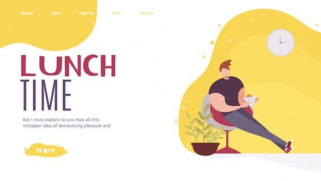 Landing page offrant le meilleur repas au travail