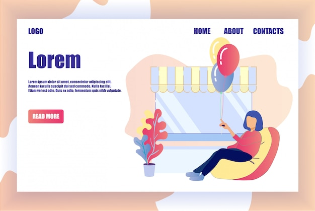 Landing page offres vacances service organisation