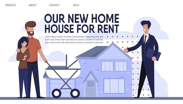Landing page présente sales company rent agency