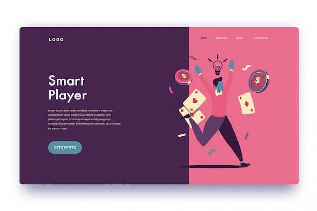 Landing page smart player
