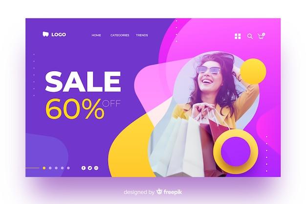 Landing page avec ventes abstraites