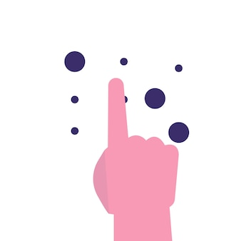 Langue braille lecture du concept de texte braille. illustration vectorielle.