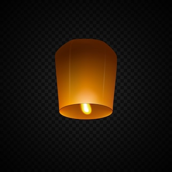Lanterne céleste isolée sur transparent.