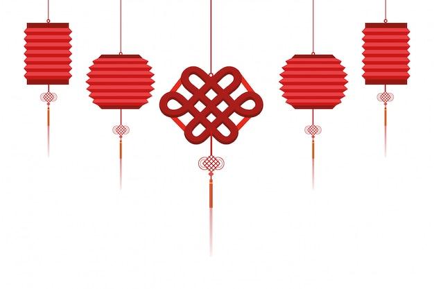 Lanterne chinoise suspendue