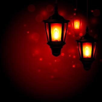 Lanterne - fond de voeux ramadan kareem