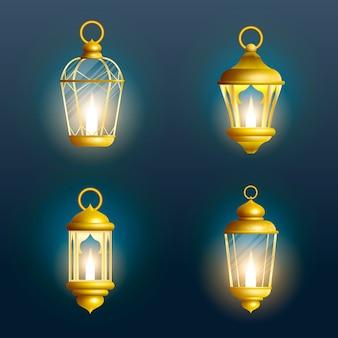 Lanterne de ramadan isolée. lampe de décoration arabe