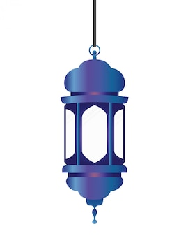 Lanterne ramadan kareem suspendue