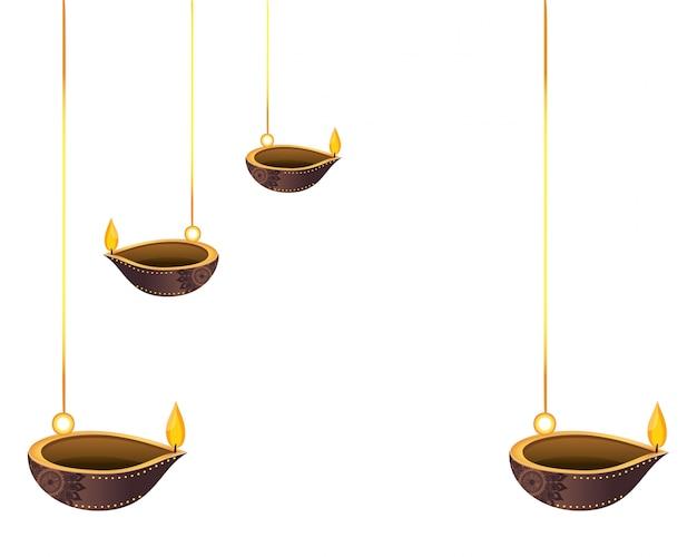 Lanternes à l'huile suspendues