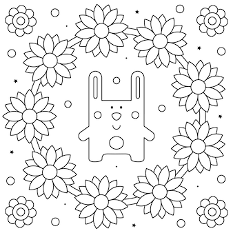 Lapin coloriage