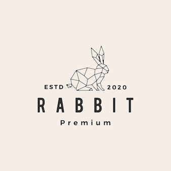 Lapin lièvre géométrique lapin hipster logo vintage icône illustration