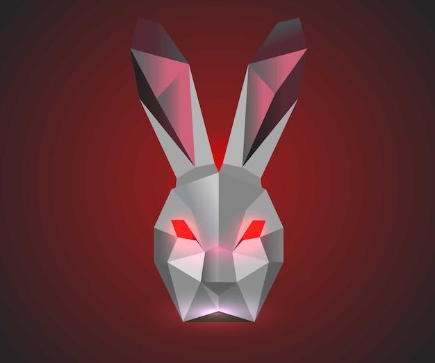 Lapin maléfique polygonal lapin noir
