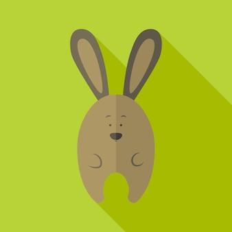 Lapin mignon. illustration stylisée plate avec ombre