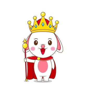 Lapin mignon en tant que roi