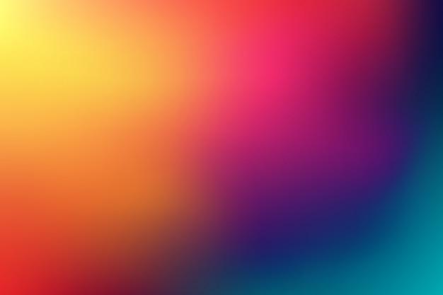 Large arrière-plan flou multicolore horizontal. coucher de soleil et lever du soleil sur la mer floue fond