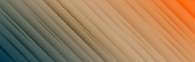 Large bannière avec motif de lignes diagonales