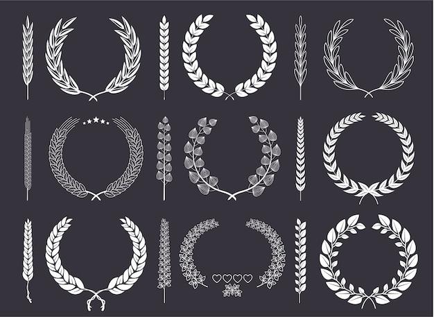 Laurel wreaths et branches vector collection