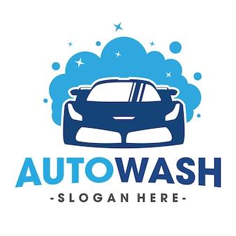 Lavage automatique et vecteur de logo de voiture de cluring