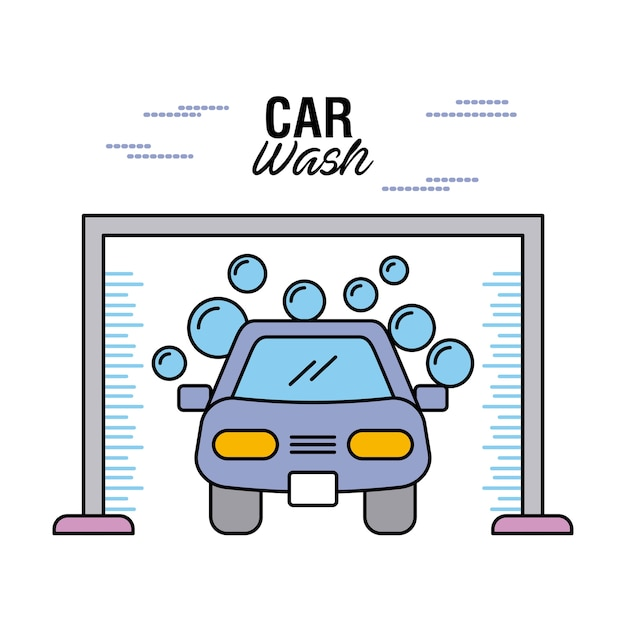 Lavage de voiture effacer la bulle d'eau de shampooing auto