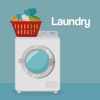 Lave-linge service de blanchisserie