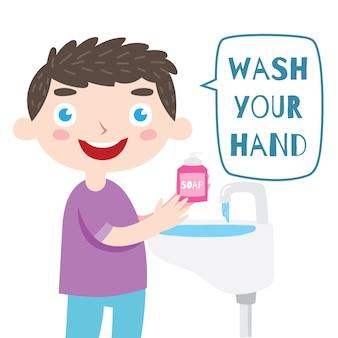 Lavez votre conception d'affiche de main