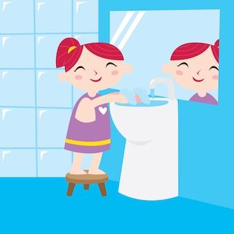Lavez votre série de conception d'affiche de main