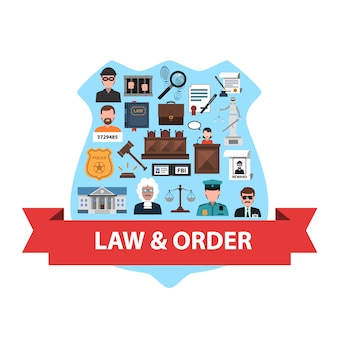 Law concept flat