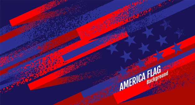 Layout usa flag, template banner