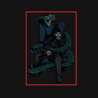 Leader de l'espèce serpent
