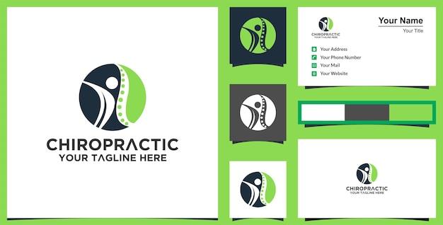 Leaf human logo design for healthy et carte de visite premium