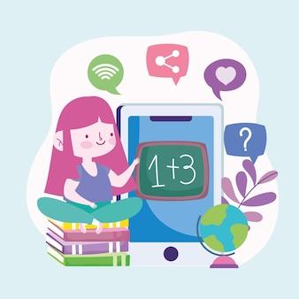 Leçon d'éducation en ligne