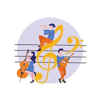 Lecteur de musique avec note musicale
